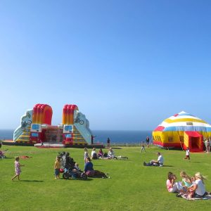 Another busy day at Body Bounce fun park in Newquay.