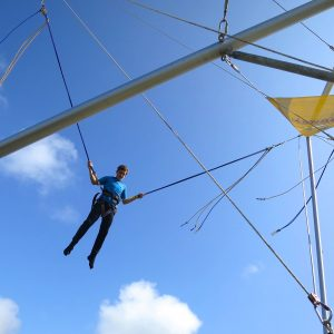 Bungy trampoline in Newquay.