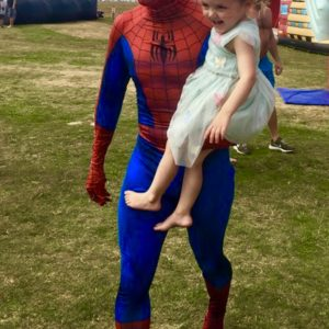 The day Spiderman came to visit Body Bounce in Newquay.