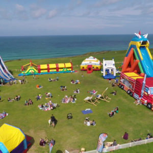 A birds eye view of Body Bounce Newquay in 2019