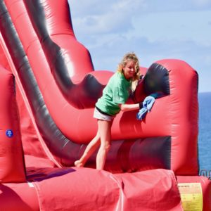 We cleaned the bouncy castles 3 times a day for Covid reasons in the summer of 2020.