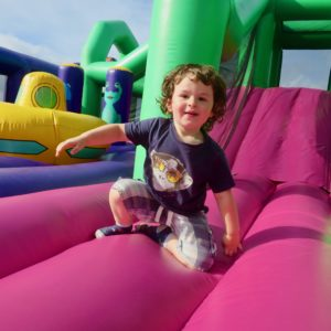 This toddler bouncy castle play area is available for hire.